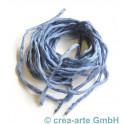 Seidenband Pongee jeans hell, 3 Stück