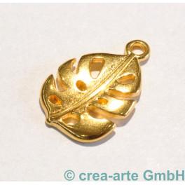 Metallanhänger Blatt, goldfarbig_5296
