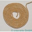 Kugelkette, Metall, rosegoldfarbig, pro 10cm