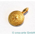 Metallanhänger Mandala, goldfarbig