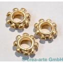 Metallperle Baliring, goldfarbig, 3 Stück