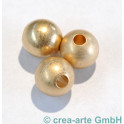 Metallperle, goldfarbig, matt, 3 Stück