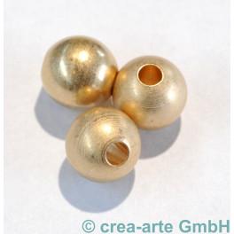 Metallperle, goldfarbig, matt, 3 Stück_5353