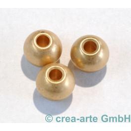 Metallperle, goldfarbig, matt, 6 Stück_5357