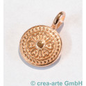 Metallanhänger Orientalische Münze, rosegoldfarbig