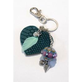 cTalotti Taschenanhänger, Herz grün, Unikat_5376