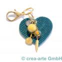 cTalotti Taschenanhänger goldfarbig, Herz, Unikat