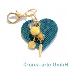 cTalotti Taschenanhänger goldfarbig, Herz, Unikat_5382