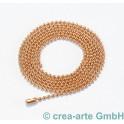 Kugelkette, Metall, rosegoldfarbig, 100cm lang