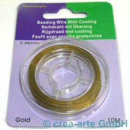 Schmuckdraht ummantelt goldfarbig 0,45mm 10m_544