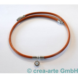 Lederkette, hellbraun, ca. 50cm lang_5604