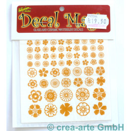 Decal Magic - Blumen 2, goldfarbig_5647
