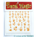 Decal Magic - Blumen mit Stiel 2, goldfarbig_5648