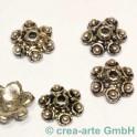 Perle metalique fleurs, 10mm 5 pieces