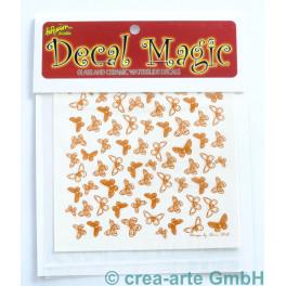 Decal Magic - Schmetterlinge 3, goldfarbig_5658