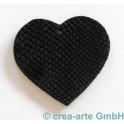 Lederanhänger Herz, schwarz
