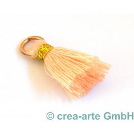 Perlenquaste, pfirsichfarbig, Ring goldfarbig_5697
