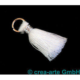 Perlenquaste, weiss, Ring silberfarbig_5700