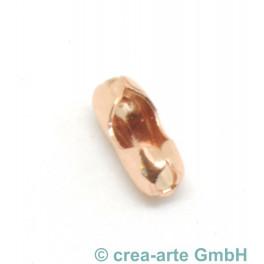 Verschluss zu Kugelkette 2mm, Metall, rosegold_5703