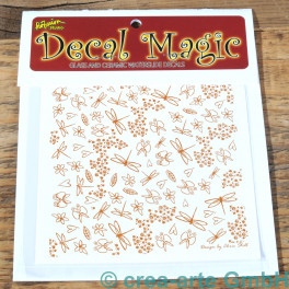 Decal Magic - Käfer und Blumen, goldfarbig_5779