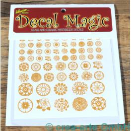 Decal Magic - Blumen 1, goldfarbig_5780
