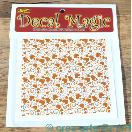 Decal Magic - Herzen mit Wirbel, goldfarbig_5781