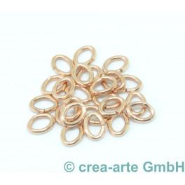 Biegering oval, Metall, rosegoldfarbig, 20 Stück_5788