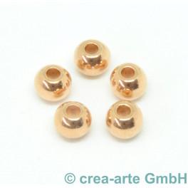 Metallperle, rosegoldfarbig, 5 Stück_5789