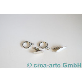 Knebelverschluss 925er Silber Nina, 2 St.13mm_603