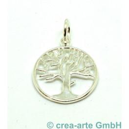 Lebensbaum-Anhänger 925er Silber, 17mm_6133