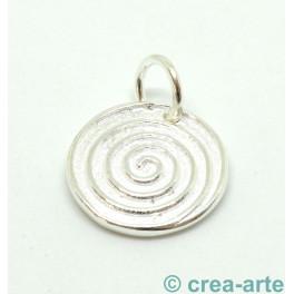 Spiralanhänger, 925er Silber, 15mm_6137