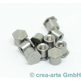Fingerring-Muttern, geschlossen, 4mm, 50 Stück_6394