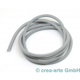 Nappaleder rund, 4mm, 1m, anthrazit_6456