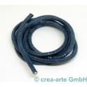 Echsenprägung rund, 4mm, 1m, azur_6662