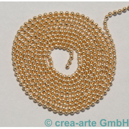 Kugelkette, Metall, light rosegold plated, 1m_6722