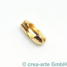 Verschluss zu Kugelkette 1.2mm, vergoldet_6815