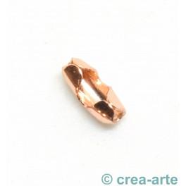 Verschluss zu Kugelkette 1.2mm, rose vergoldet_6816