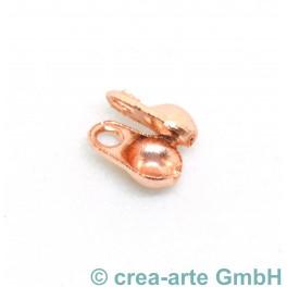 Endkappe zu Kugelkette 1.2mm, rose vergoldet_6817