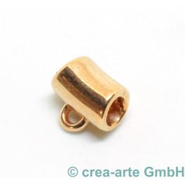 Metallröhre mit Öse, rosegold, 2 Stück_6822