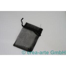 Organzabeutel schwarz, 9x12cm, 10 Stück_6877