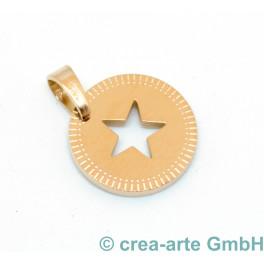 Metallanhänger Stern, rosegoldfarbig_6934
