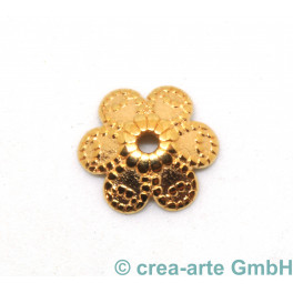 Metallperle Blume, rosegoldfarbig, 8 Stück_6936