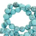 Natursteinstrang 6mm  turquoise blue