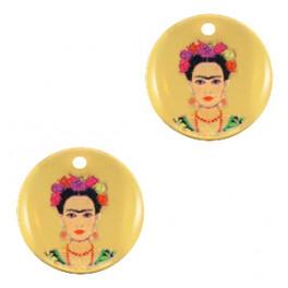 Metallanhänger Frida Kahlo_7151