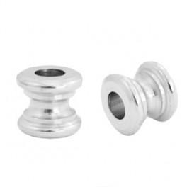 Metallperle Spule, antik-silberfarbig_7302