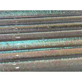 Dichroice Moretti clear Emerald, 5mm