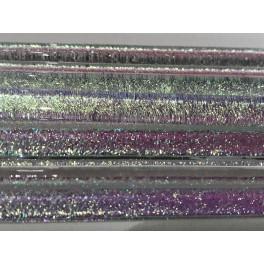 Dichroice Moretti Blue/purple/Gold clear 5mm, 30cm