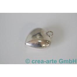 Herz, Silber, matt & glanz, ca. 37x30x17mm_798