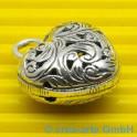 Herz, Silber, verziert, ca. 30x25x14mm