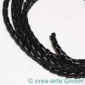 cuire tressés 3mm, noir